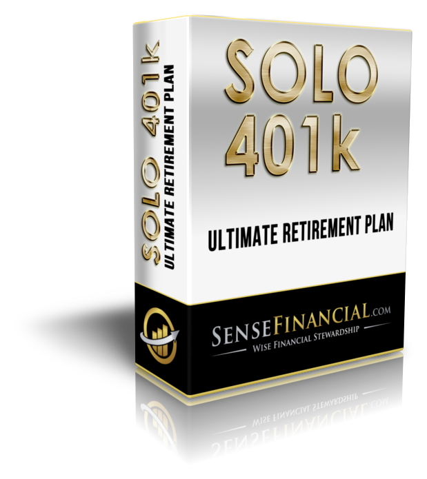 Solo 401k Plan for Business Owners- Sense Financial Product Box