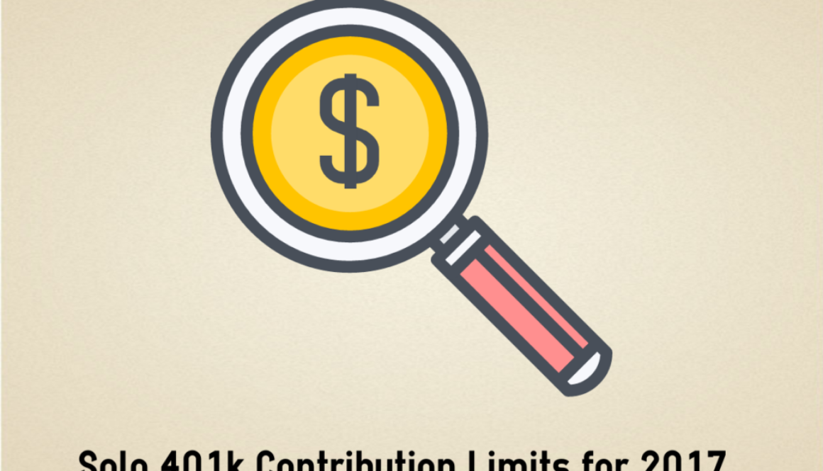Solo 401k Contribution limits for 2017